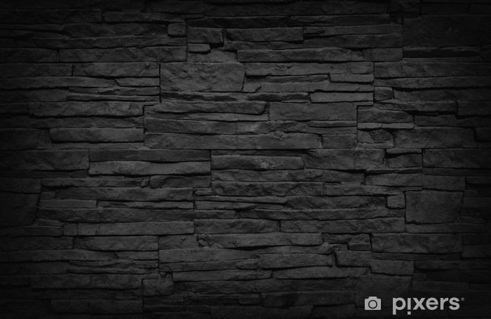 Dark Brick Wall Vinyl Wall Mural - iStaging