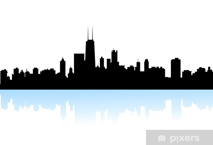 newyork skyline silhouette vector wall mural pixers we live to