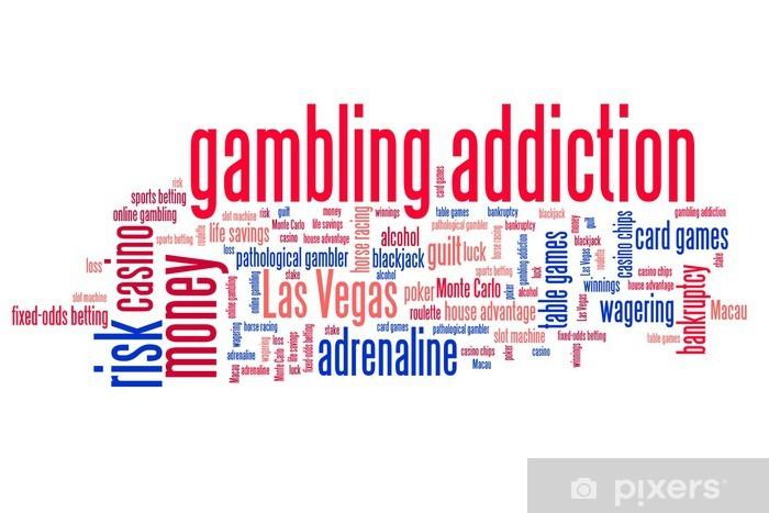 Nálepka Pixerstick Hazardní hry slova - koncepční slovo mrak - Značky a symboly