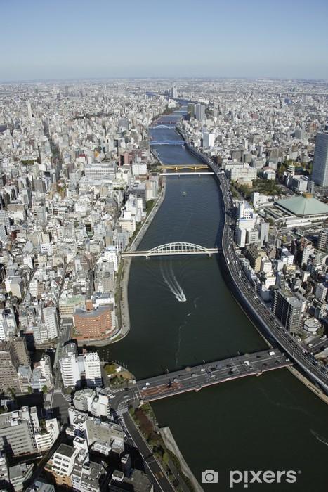 Naklejka Pixerstick Widok z lotu ptaka obszarach Sumida-ku - Inne