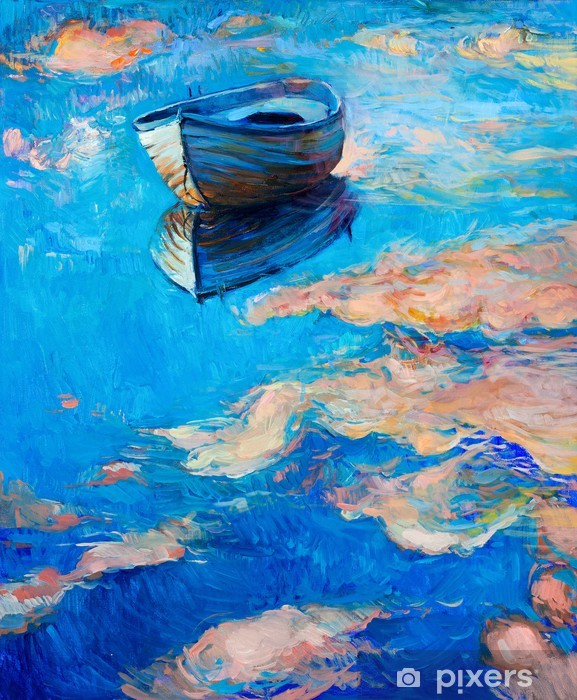 Fotomural Estándar Barco en el mar - Temas
