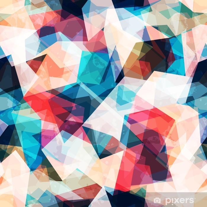 Naklejka Pixerstick Kolorowe mozaiki szwu z mocą grunge - Style