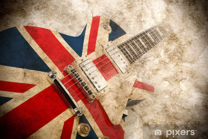 Naklejka Pixerstick Grunge guitar pop brytyjski - Rock