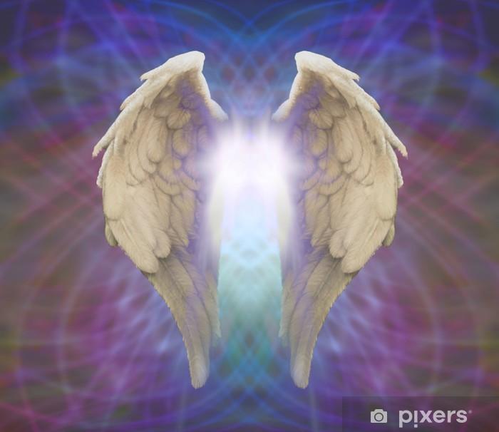 Papier peint vinyle Ailes d'ange sur fond Matrice - Religion