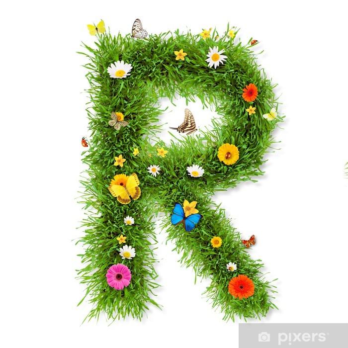 """Plakat Wiosna litera """"R"""" - Tła"""