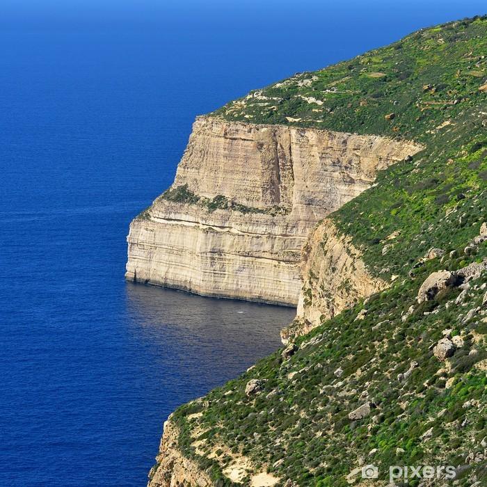Plakat Dingli Cliffs, Malta - Woda