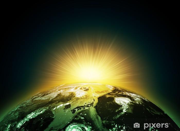 Fototapeta Ziemia Planeta W Promieniach Słońca Pixers żyjemy By