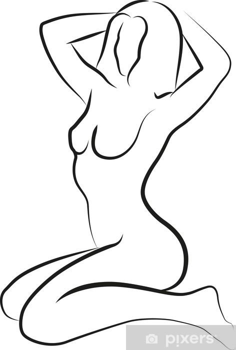 Sticker Pixerstick Affai nu - Femmes