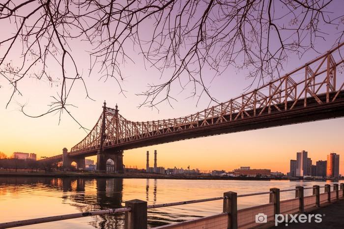 Vinyl-Fototapete Sonnenaufgang an der Königin-Brücke - Amerikanische Städte