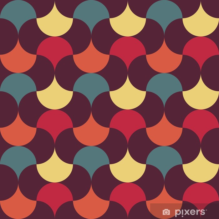 Poster Abstrakt retro geometrische Muster - Vorlagen