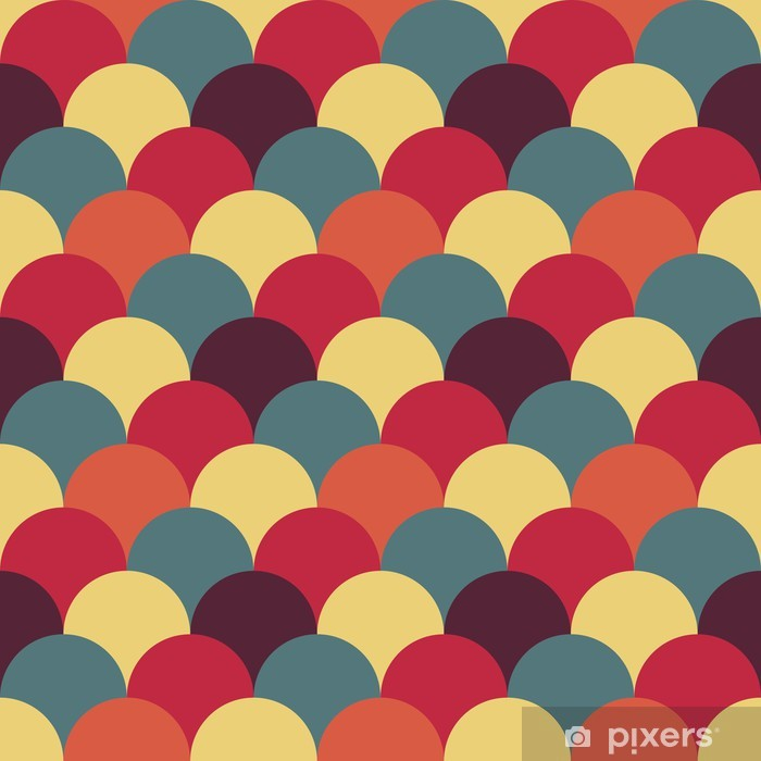 abstract retro geometric pattern Vinyl Wall Mural - Abstract