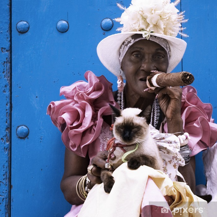Cuban cigar lady Poster - Themes