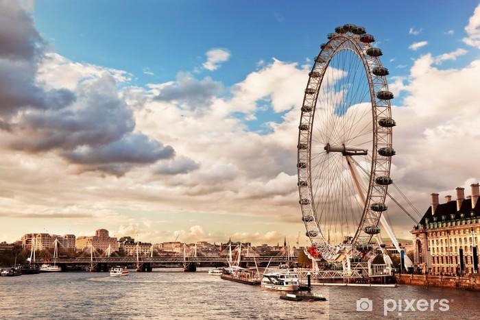 London, England the UK skyline. The River Thames Pixerstick Sticker - Themes