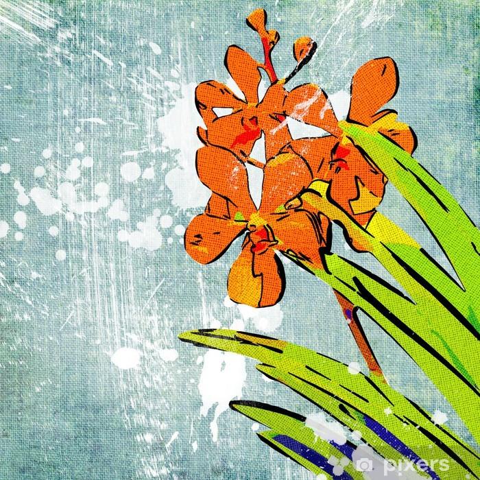 Naklejka Pixerstick Retro malowane tła - Sztuka i twórczość
