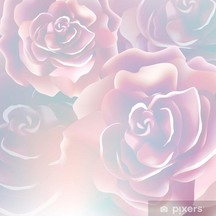 Naklejka Pixerstick Różowy - Kwiaty