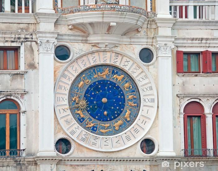 Papier peint vinyle Zodiaque horloge gros plan - Villes européennes