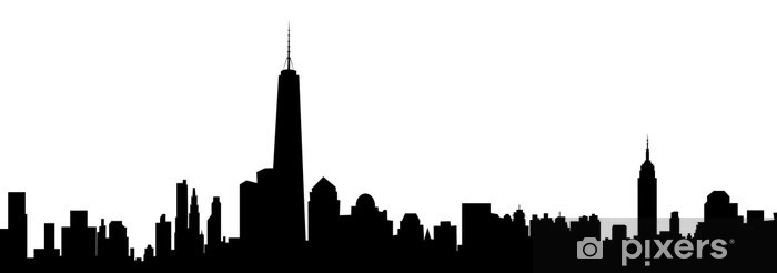 New York Skyline Vector Wall Mural Pixers We Live To Change