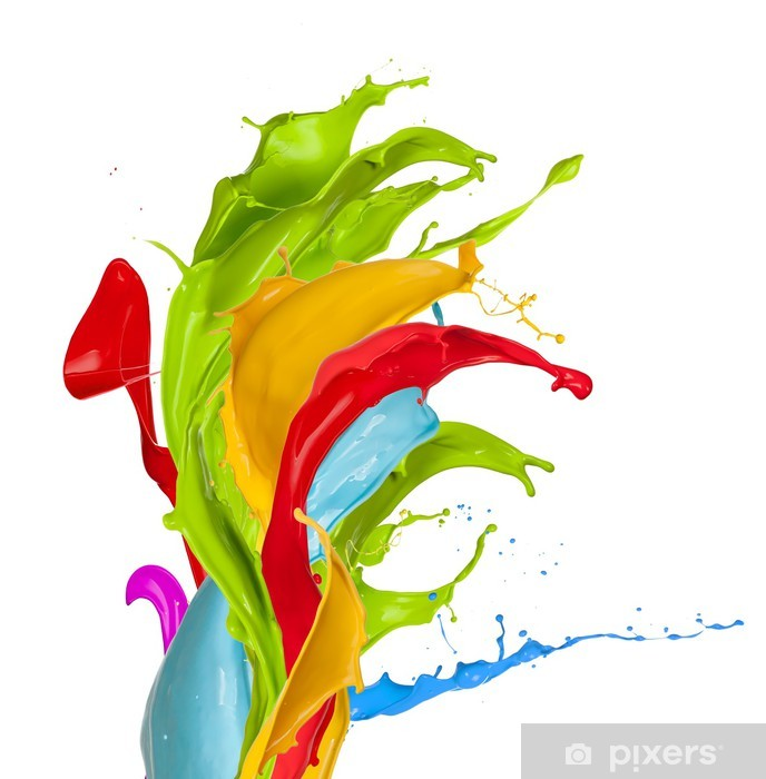 Colored splashes Vinyl Wall Mural - Themes