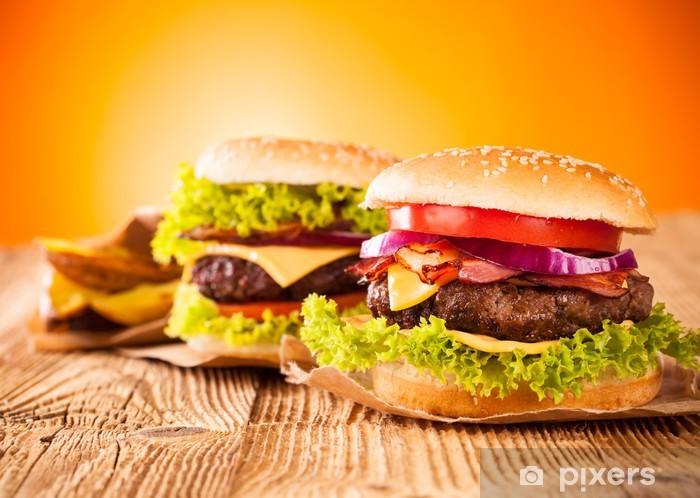 Naklejka Pixerstick Świeże hamburgery - Tematy