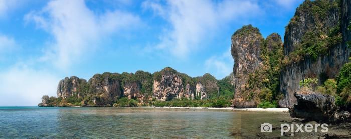 Naklejka Pixerstick Plaża Phra Nang w prowincji Krabi, Tajlandia - Wakacje