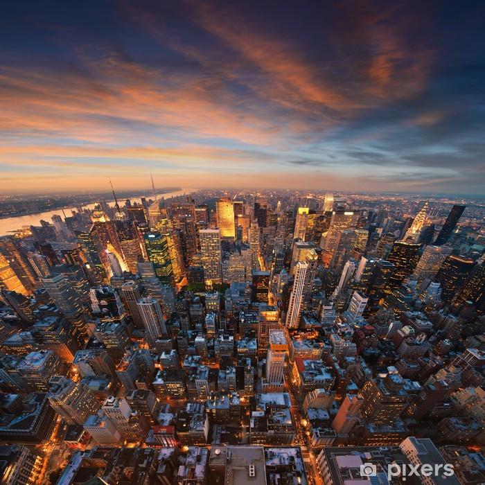 Fototapeta zmywalna New york city skyline o zachodzie słońca - Style