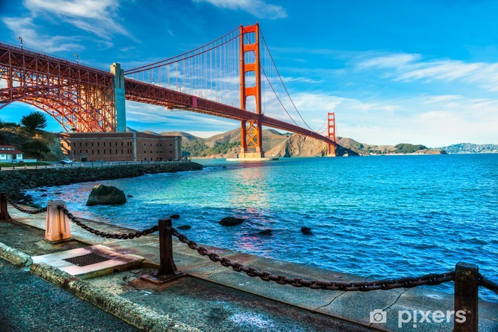 Golden Gate, San Francisco, California, USA. Vinyl Wall Mural - North America