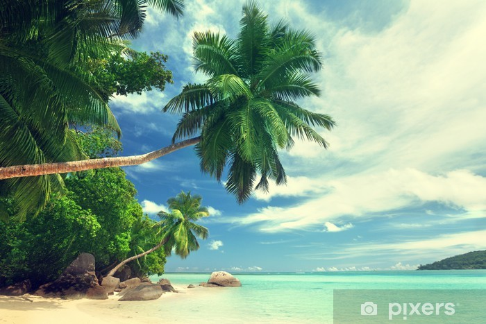 Nálepka Pixerstick Pláž na ostrově Mahe, Seychely - Voda