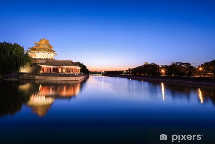 Vinyl Fotobehang Peking gracht in de avond - Stedelijk