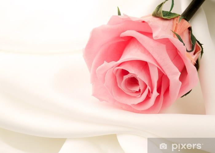 Papier peint vinyle Belle fin rose - Bonheur