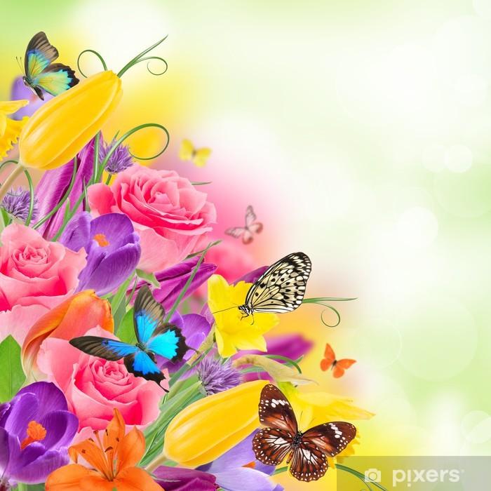 Sticker Pixerstick Beau bouquet de fleurs - Autres Autres