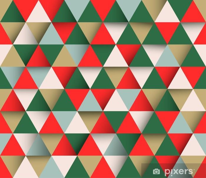 Vinilo Pixerstick Triangular vector de fondo abstracto geométrico - Fondos