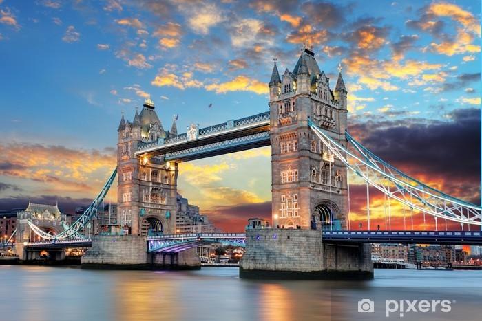 Vinyl Fotobehang Tower Bridge in Londen, UK -
