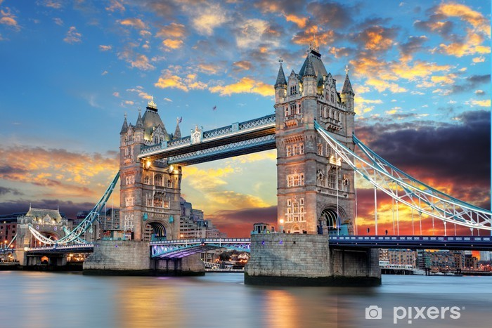 Fotomural Estándar Tower Bridge en Londres, Reino Unido -