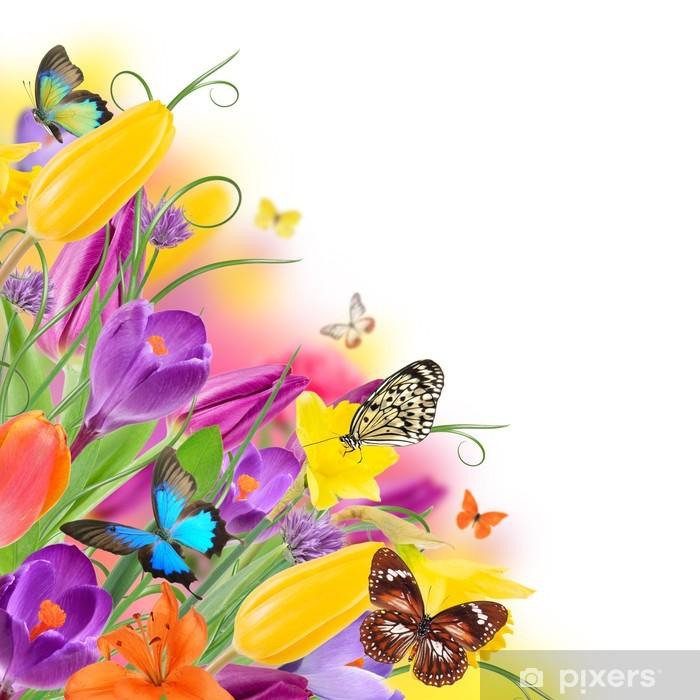 Carta da Parati in Vinile Bella bouquet di fiori - Altri Altri