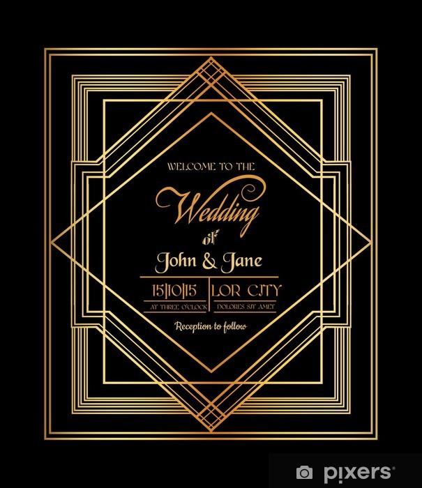 Papier peint vinyle Invitation de mariage de - Art Déco & Gatsby style - Célébrations
