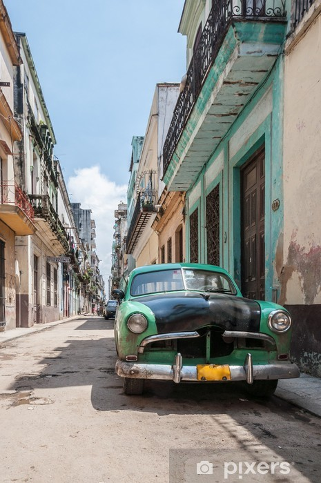 Fotomural Estándar La Habana coche de la vieja escuela -