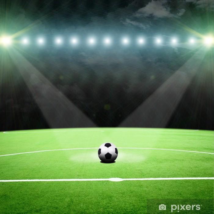 Poster Stade de football avec des lumières - Arrière plans