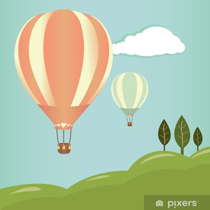 Plakat Gorące powietrze balony krajobraz - Transport powietrzny