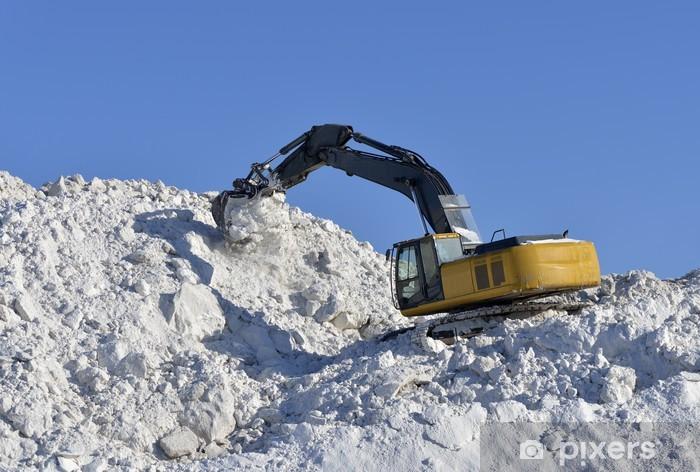 Nálepka Pixerstick Stohování sníh bagr - Infrastruktura