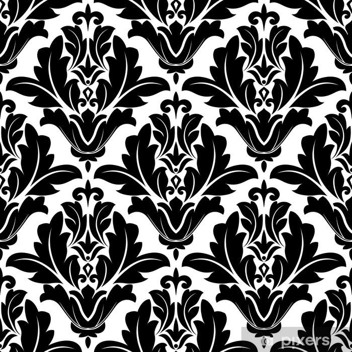 Carta Da Parati Bianca E Nera.Carta Da Parati In Vinile Bold Design Pattern Arabesco In Bianco E Nero