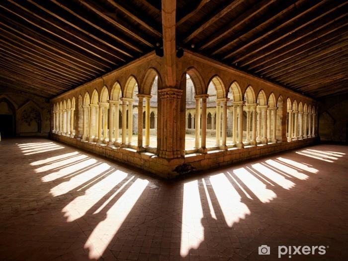 Vinyl-Fototapete Kloster Schatten Frankreich - Europa