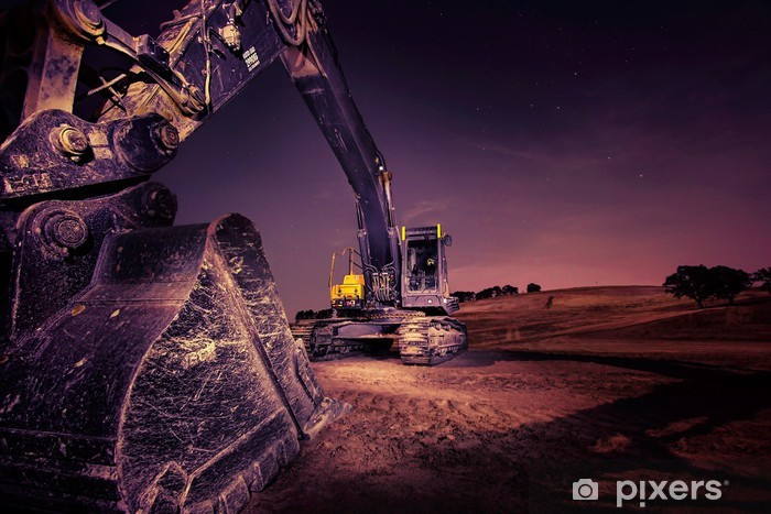 Vinilo Pixerstick Excavador - Industria pesada