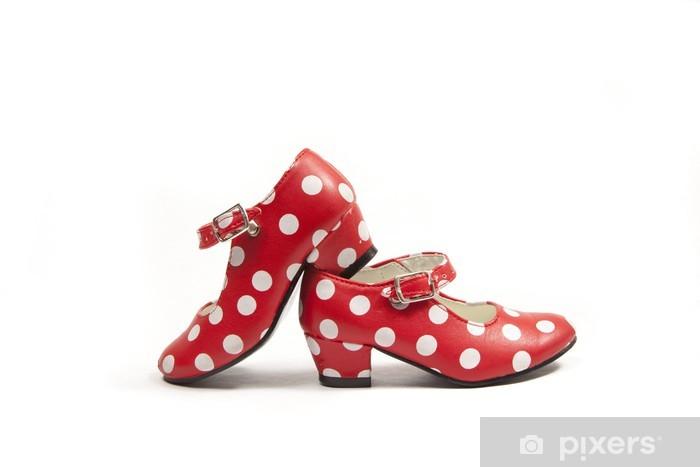 Vinilo Pixerstick Dos zapatos de flamenco. - Entretenimiento