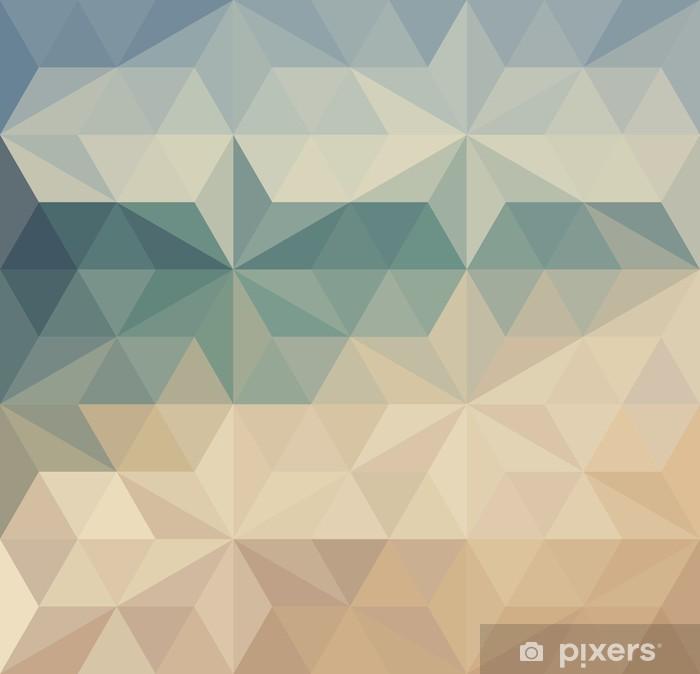 Vinyl-Fototapete Retro Dreieck Hintergrund - Hintergründe