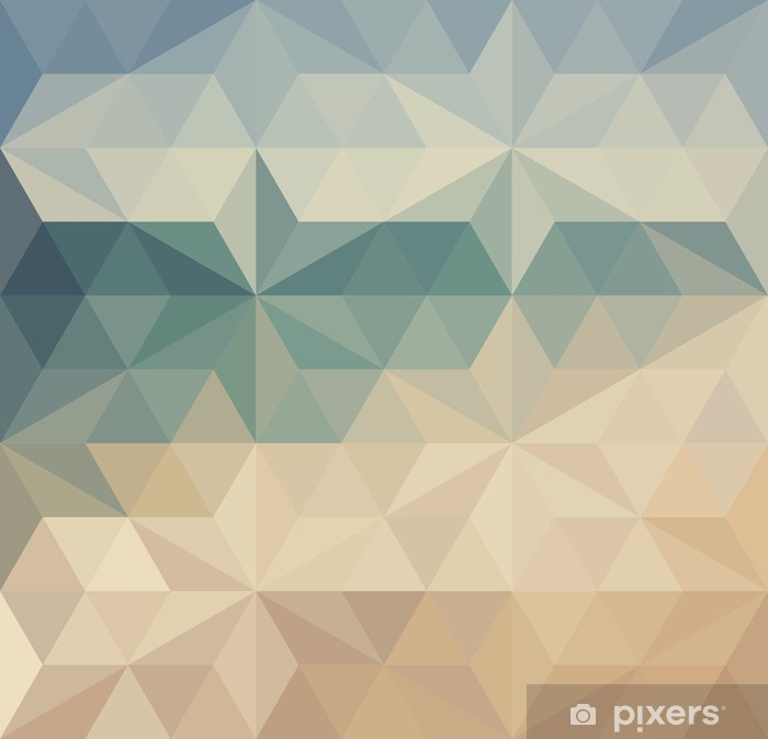 Retro triangle background Vinyl Wall Mural - Backgrounds