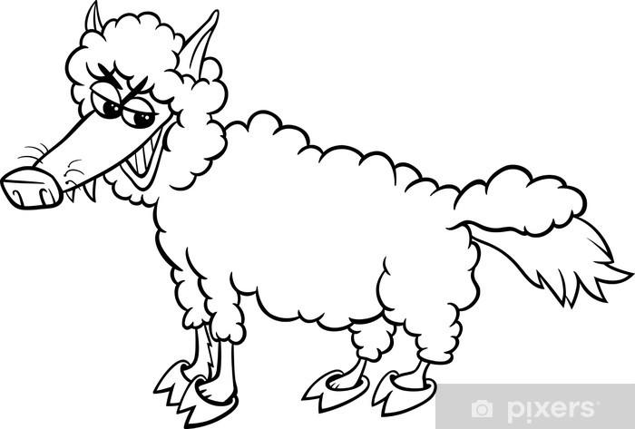 Koyunlari Giyim Boyama Kurt Duvar Resmi Pixers Haydi