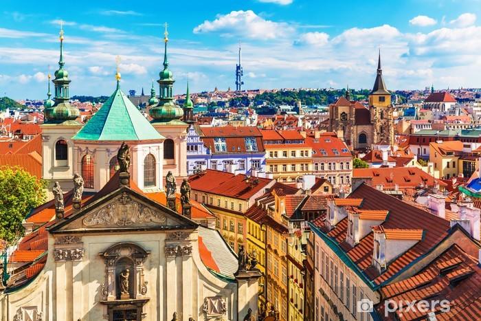 Fotomural Estándar Vista aérea de Praga, República Checa - Praga