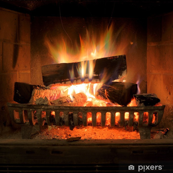 Fireplace Pixerstick Sticker - Themes