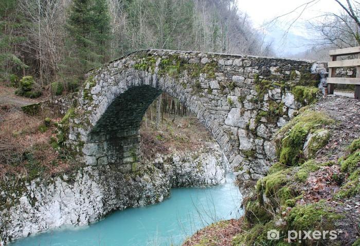 Papier peint vinyle Pont Napoléon en Slovénie - Infrastructures