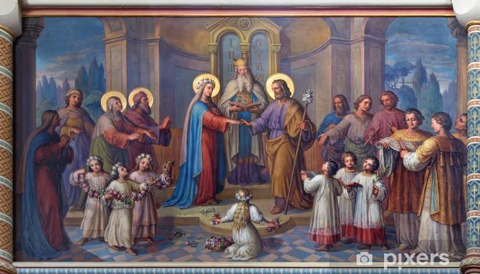 Fototapeta winylowa Wiedeń - Ślub Maryi i Józefa w kościele karmelitów - Tematy